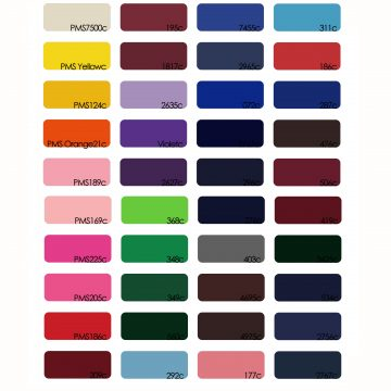 Colour Chart for Logo Umbrellas