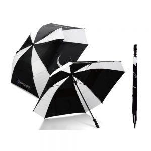 Square vented golf branded umbrella from logo umbrellas