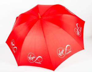 Logo umbrellas with Spot Colour Printing