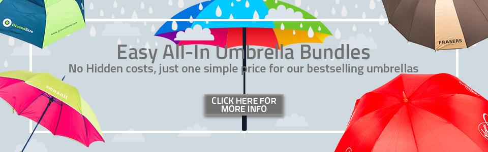 Logo umbrellas all-in umbrella bundles